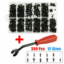 350PCS Plastic Car Auto Body Push Pin Rivet Fastener Trim Moulding Clips + Tool