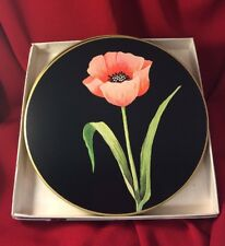 Vintage Design Collection by Jason Cork Placemats Flamed Poppy Original Box