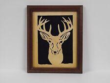 Handcrafted Framed Deer Head Silhouette