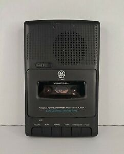 Vintage GE Personal Portable Recorder and Cassette Player 3-5027 Black UNTESTED