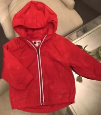 BABY GAP DC SUPERMAN RED WINDBREAKER COAT JACKET REMOVEABLE CAPE 18-24 MONTHS