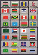 UNO New York 422-37 524-39 ** Flaggen der UNO-Länder flags of the UNO  0208