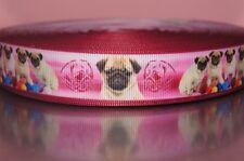 2226 Mops mit Bälle Pink 22mm Breite Eigenproduktion