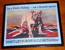 Vote Leave British Bulldog anti-EU patriotic Brexit Union jack flag mouse mat