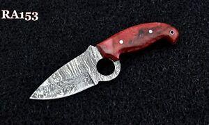 """7.7"""" New Arrival Custom Handmade Damascus steel Hunting Skinner Knife With Resin"""