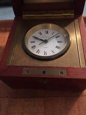 Tiffany & Co. Swing Desk Clock (Mahogany & Brass, Quartz)