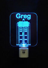 Dr. Who Tardis LED Night Light - Personalized - Lamp - Whovians - nightlight