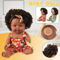 Lifelike Baby Girl Doll Full Body Vinyl Silicone Newborn Toy Xmas Gift