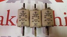 Jean Muller DIN 43620 100A 500V gL-gG Fuses Lot of 3
