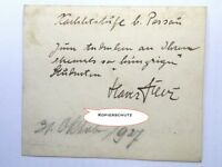FRANZ XAVER FUHR Autogramm mit Widmung 1927