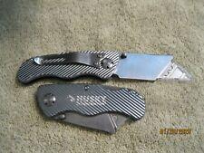 Husky Folding Lock-Back Utility Knife, 2 pack, Silver