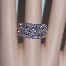s10 DRESS RING 18kt WG-FILLED AAA CLEAR CZ round, marquise ++ ETERNITY/CROWN