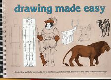DRAWING MADE EASY 115 page superb ART: HOW TO DRAW skills techniques ++