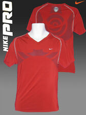 NIKE PRO Baselayer Compression Shirt  V Neck Red XXL