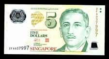 SINGAPORE  P-NEW      5  DOLLARS    ND  *UNC*