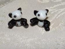 "5/8"" Panda bear plastic vintage dollhouse fairy garden diorama toy miniature"