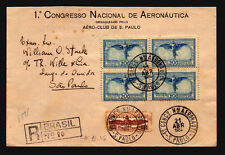 Brazil 1934 National Air Congress Cover / Registered (I) - Z19380