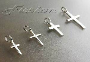 Solid 925 Sterling Silver Cross Crucifix pendant Charm MULTI LISTING