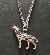 Teen Wolf Inspired Wolf Werewolf Silver Tone Necklace - Gift Bag