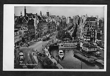 c1950s View of Trams, Cars, People & Boats: Rokin, Amsterdam