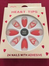 True Love Heart Tips False Nails