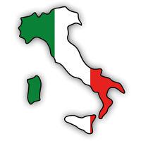"""Auto Aufkleber Italien """"ITALIA"""" Vinyl Sticker konturgeschnitten"""