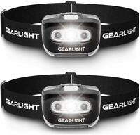 GearLight LED Headlamp Flashlight S500 [2 PACK] - Running, Camping, and Outdoor