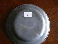 Rarität fast 200 Jahre alter Zinn Teller Zinnteller massiv Zinn 3 x gestempelt 7