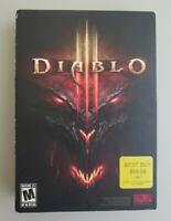 Diablo III 3 PC Game Box Set (Windows/Mac, 2012) Blizzard Entertainment Complete