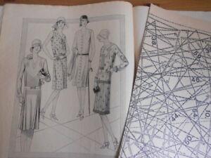 Vintage Modeheft 34/1929 Vobachs Familienhilfe mit Schnittmusterbogen