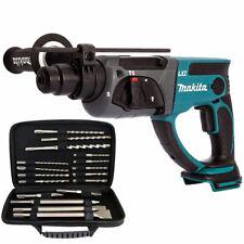 Makita DHR202Z 18V Li-ion SDS Plus Rotary Hammer Drill + 17pcs Accessories Set