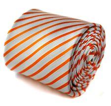 Frederick Thomas arancione e bianco a righe colorate
