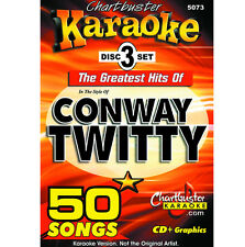 Karaoke CD+G Chartbuster 5073 Conway Twitty 3 Disc Set in Case with Song List