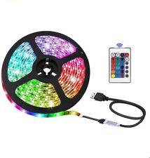 LED STRIP LIGHTS 5050 RGB COLOUR CHANGING TAPE UNDER CABINET KITCHEN LIGHTING
