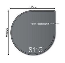 Glasbodenplatte Funkenschutz Glas Kaminplatte Ofenplatte S11 Grau 6mm ESG Neu