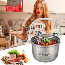 6L Stainless Steel Thermal Cooker - Camping, Home, Caravan, Travel,Slow Cooker