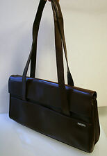 Rene Lezard Tasche, edle Luxus Handtasche, Leder braun, 100 % Original