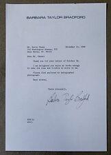 "Barbara Taylor Bradford Signed 1990 Letter ""Woman of Substance"" Novelist COA"