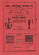 BERLIN SW 61, Werbung 1934 für AGA-Schweißbrenner, Autogen Gas-Accumulator AG