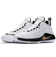 Nike Zoom Witness LEBRON Basketball Sneaker white black gold 852439-102 Size11.5