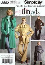 Simplicity 3562 COAT Sewing Pattern Uncut Size 6 to 14 Threads Collection