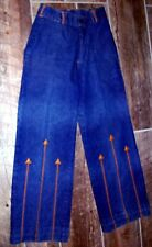 Vintage Women's Jeans 1960 Retro with Leather Arrows