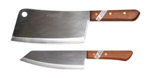 2 x Kiwi thai Küchenmesser Kochmesser Hackmesser Hackbeil # 850 173 Messer Set