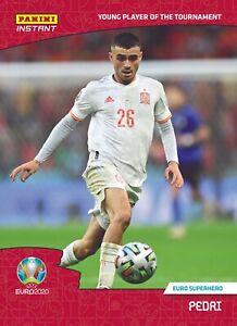Pedri Spain FC Barcelona 1st UEFA Euro 2020 Panini Instant Card #74
