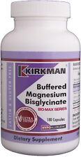 neu!!! kirkman buffered magnesium bisglycinat-bio-max-serie x 180 kapseln