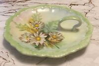 Vintage Grace Morris Daisy Hand-Made Painted Candy Nut Trinket Dish Bowl