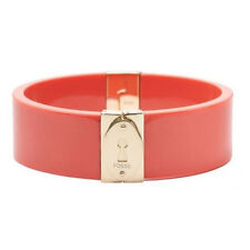 Fossil Women's Coral & Gold Tone Wide Bangle Bracelet Jf00397710m