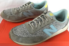New Balance Print WL410GB Gray Suede Fashion Running Sneakers Shoes Women's 9.5