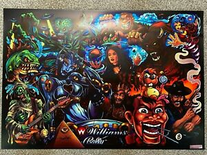 Bally Williams Greatest Hits Monster Bash Pinball Game Translite Sign NEW 19x26