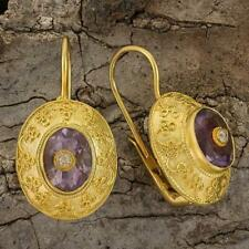 Mogul Amethyst and Zirconia Earrings: Museum of Jewelry